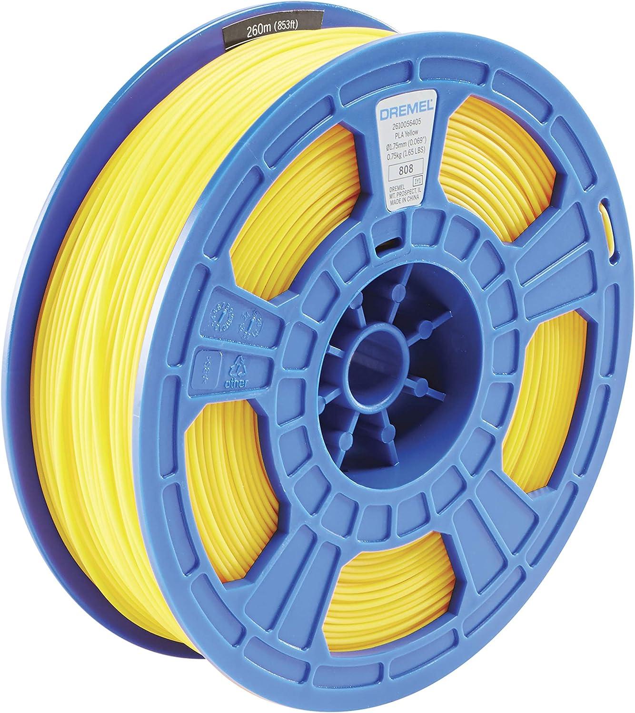 Dremel PL08JA 3D Filamento Amarillo PLA 1.75mm para impresoras 3D Superpack de 750 g