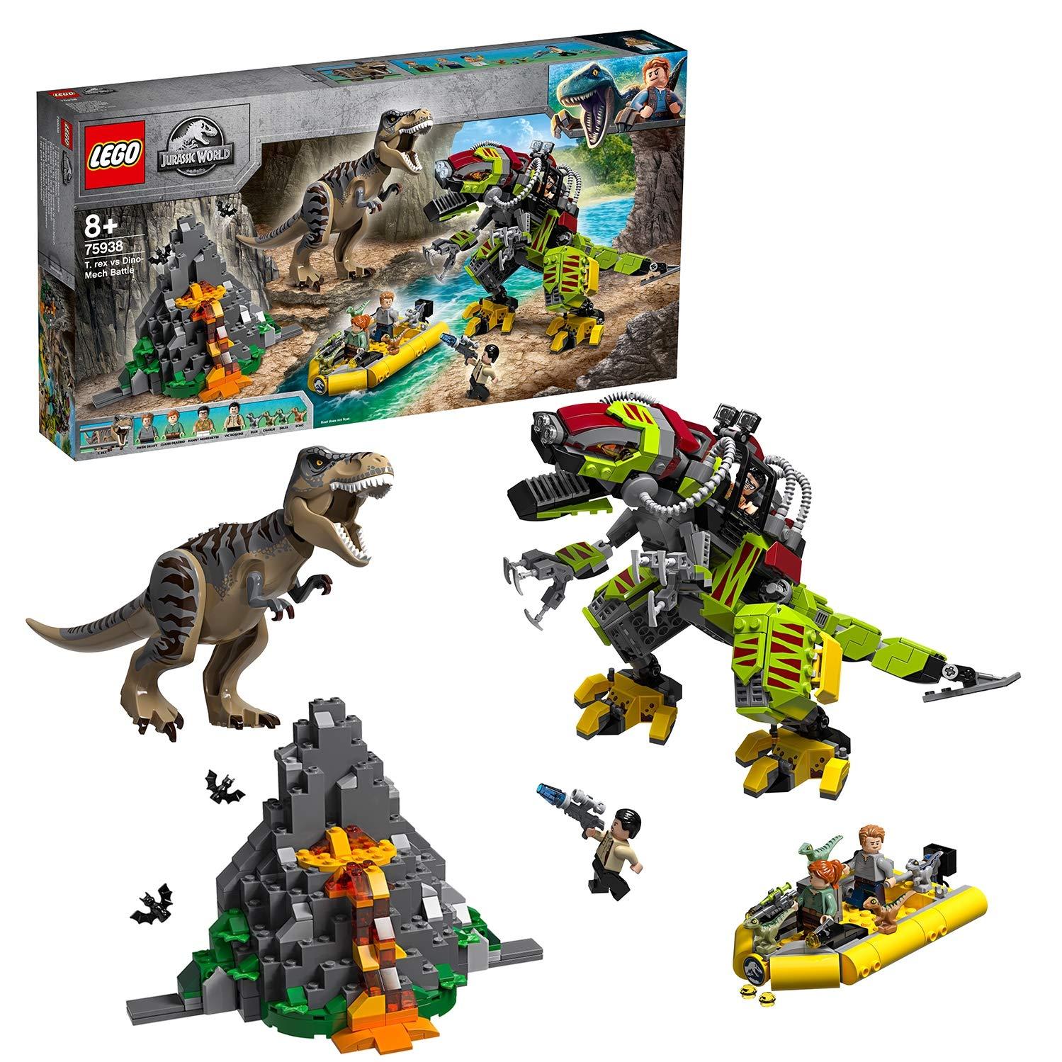 consegna gratuita ampia selezione miglior sito LEGO Jurassic World - Gioco per Bambini Battaglia tra T.Rex e Dino ...