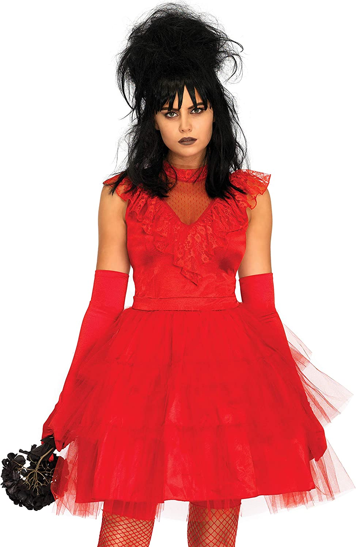 Amazon Com Leg Avenue Women S Beetle Bride 80s Halloween Costume Clothing