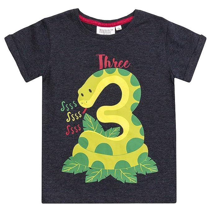 Amazon.com: Minikidz bebé niños camisetas de cumpleaños (Las ...