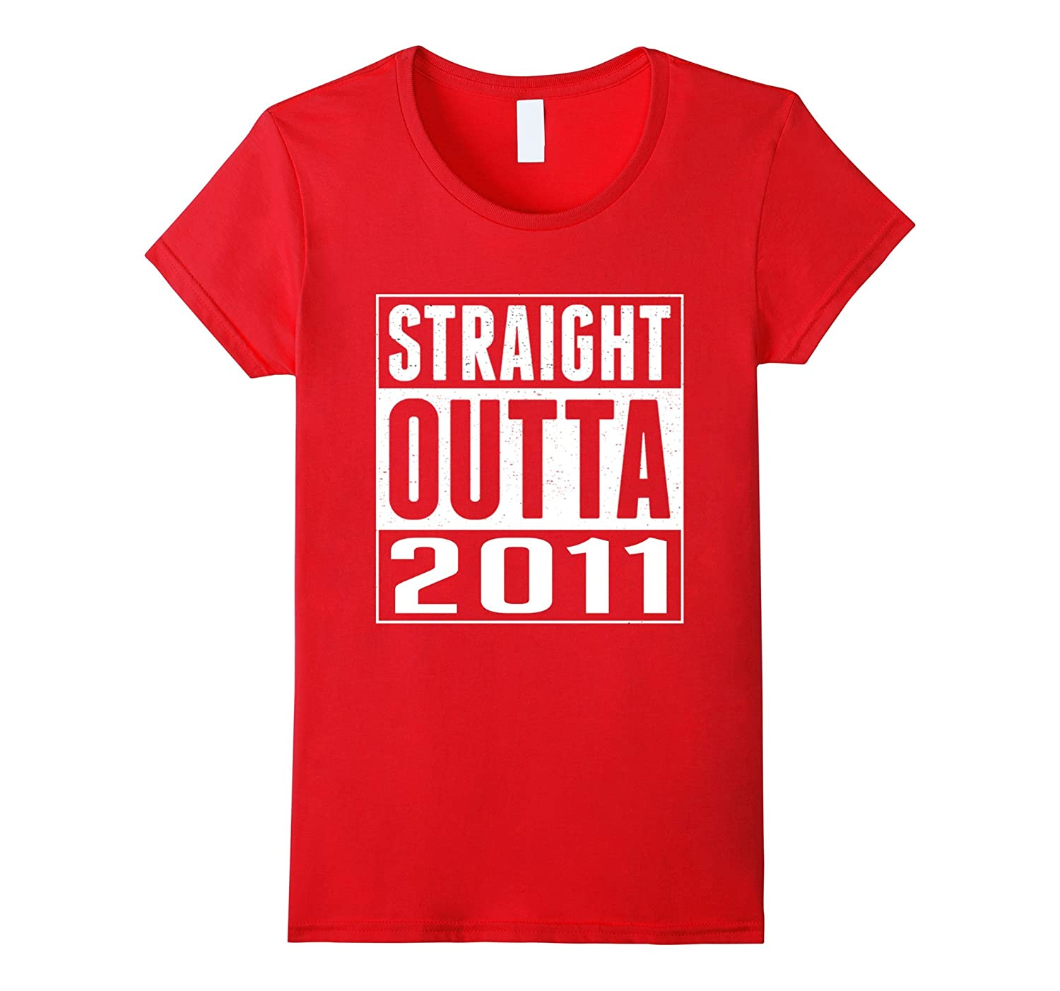 6th Birthday Gift T-Shirt STRAIGHT OUTTA 2011 Shirt
