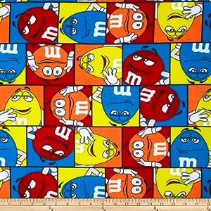 M&M Full of Fun Fleece Fabric