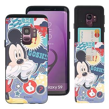 d6914e3b33 Galaxy S9 ケース Disney Mickey Mouse ディズニー ミッキーマウス カード スロット ダブル バンパー ケース/スマホケース