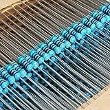 1120Pcs 1/4W 1% Metal Film Resistors Assorted Kit Set 56 Values (1 ohm~ 10M ohm)