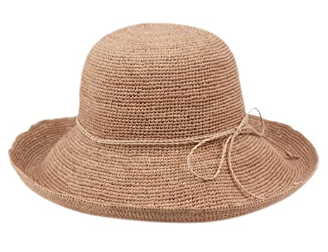 f035a2d5bba75 ANGELA   WILLIAM Women s Crocheted Packable Raffia Hat (A Pink) at ...