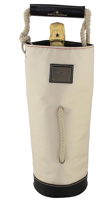 Moet & Chandon Thermo-Kühltasche Champagner Kühler Kühlmanschette Transport-Tragetasche mit Ledergriff für eine 0.75 l oder 1.5 l Liter Magnum Flasche