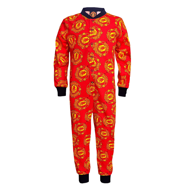 Manchester United FC - Pijama de una pieza para niños - Producto oficial: Amazon.es: Ropa y accesorios