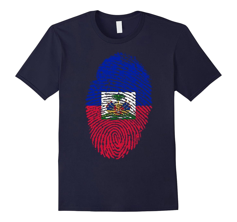 Haitian Fingerprint Flag T - Shirt-TD