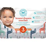 The Honest Company Disposable diapers, multi-colored giraffes print polybag, size 3, 34 Count