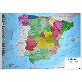 Póster mapa España - Grupo Erik Editores: Amazon.es: Oficina y ...