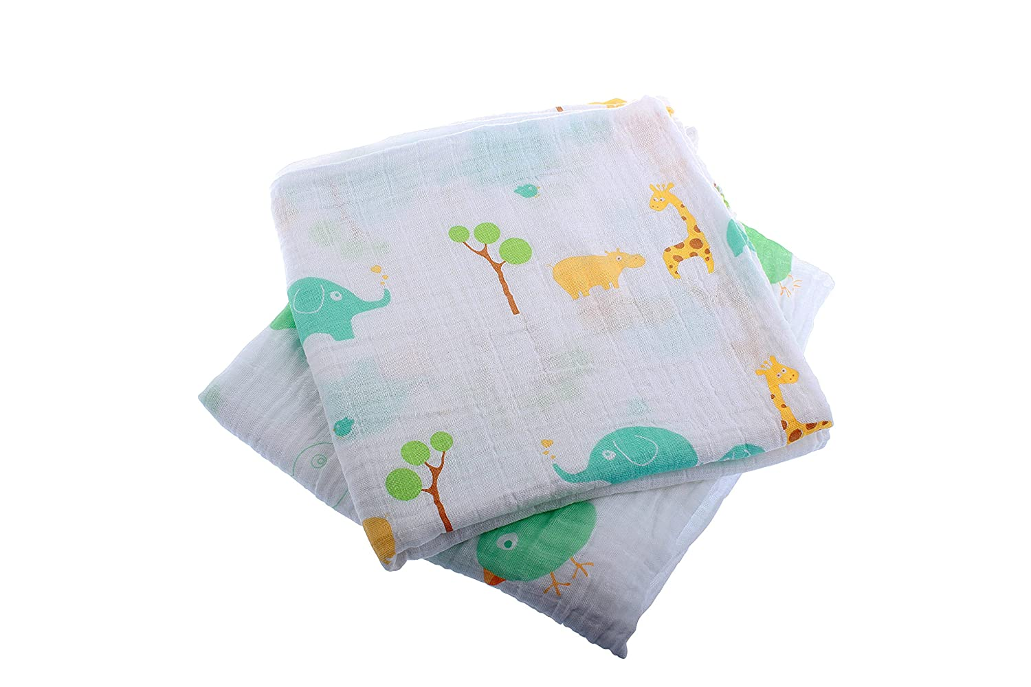 Extra Large Super Soft Muslins - Animal Designs - Gift Boxed 4-Pack Ana Wiz Ltd
