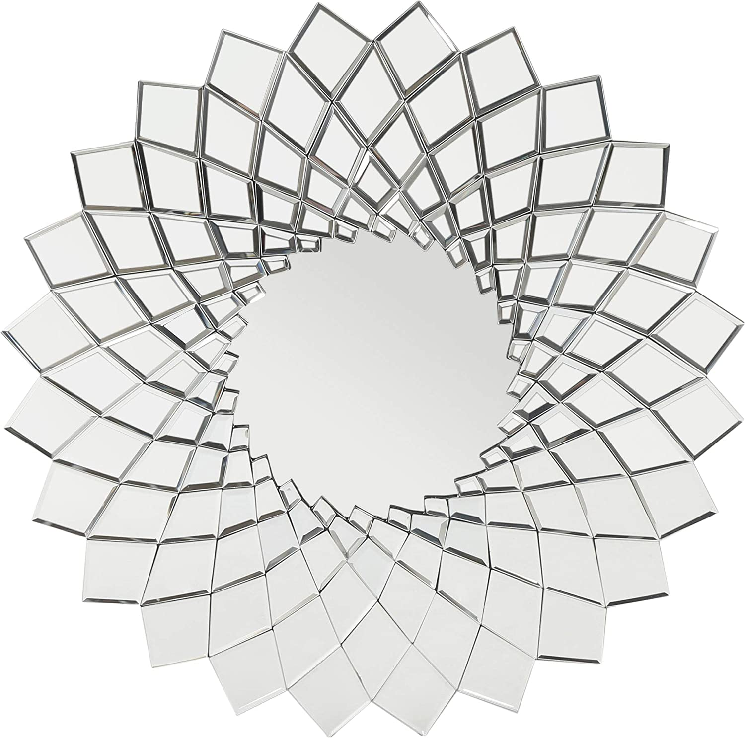 Christopher Knight Home Tzipora Glam Sunburst Wall Mirror, Clear