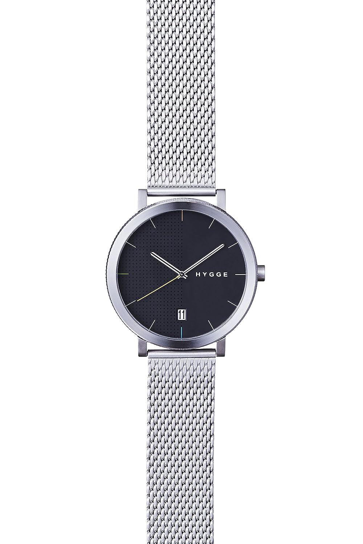 Hygge Unisex-Armbanduhr 2203 Analog Edelstahl Silber MSM2203C(CH)