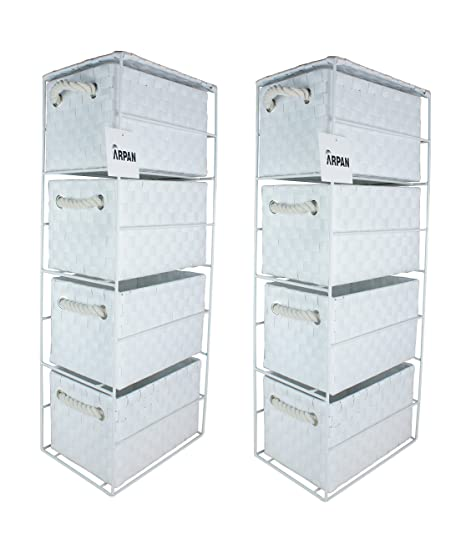2 X 4 Drawer Storage Cabinet Unit For Bedroom/Bathroom/Home/Office (