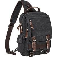 Riavika Vintage Cross Body Messenger Bag Sling Bag Shoulder Backpack Travel Rucksack