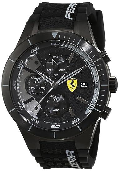 Scuderia Ferrari Reloj analógico para Hombre de Cuarzo con Correa en Silicona 0830262