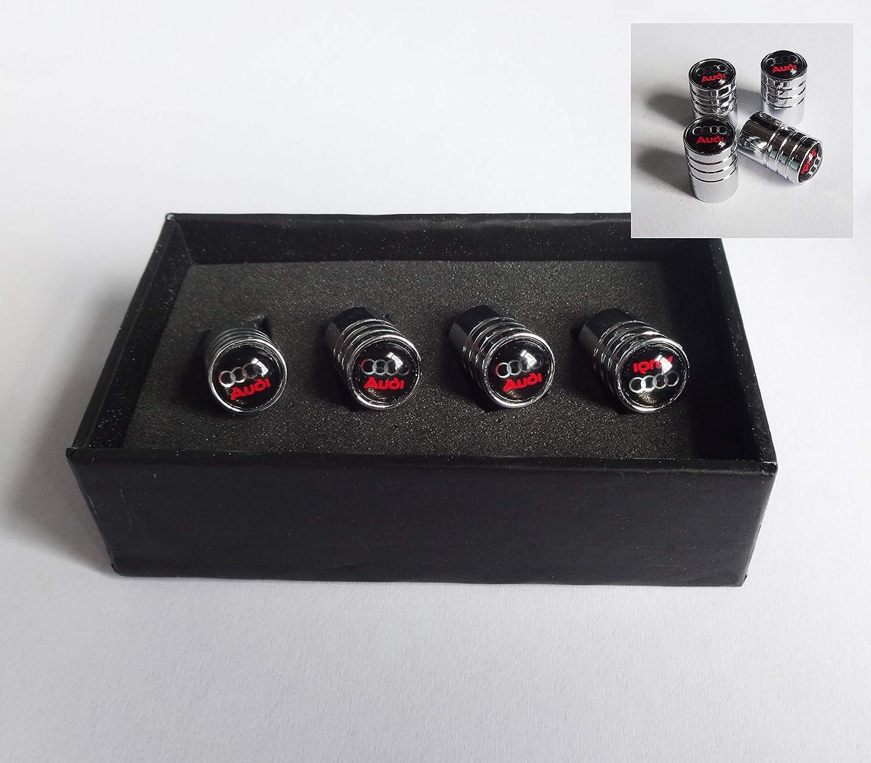 RacePace Deluxe Lot de 4 Bouchons de Valve chrom/és BK A1 A3 A4 A5 A6 TT Quattro Sline Q2 Q3 Q5 Q7 Allroad E-Tron A8 RS4 R8 RS6 RS8.