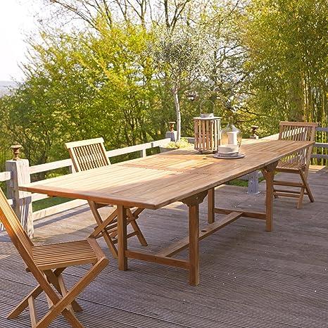 Table de jardin rectangulaire Jardin Terrasse Capri 200 cm ...