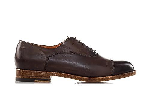 SANTONI Scarpe Washed Leather Oxford 44 Uomo Marrone: Amazon