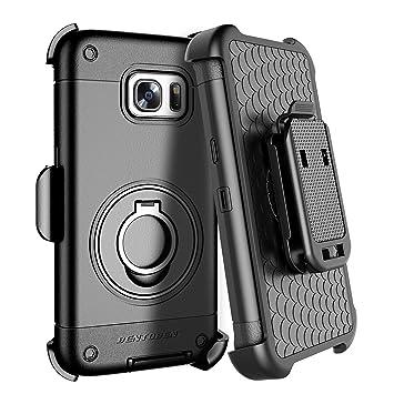 BENTOBEN Funda Samsung Galaxy S7 Edge, Carcasa Cover Case Clip y Anillo 360 ° Protección Antichoque y Antigolpes Funda para Samsung Galaxy S7 Edge ...