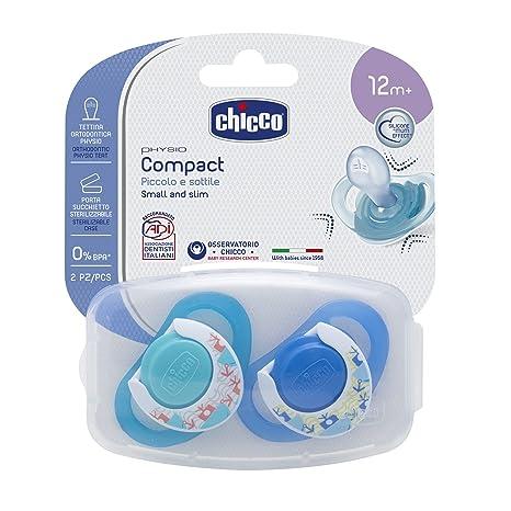 Chicco - Chupete de silicona Compact Chico, 16-36 meses, 2 ...