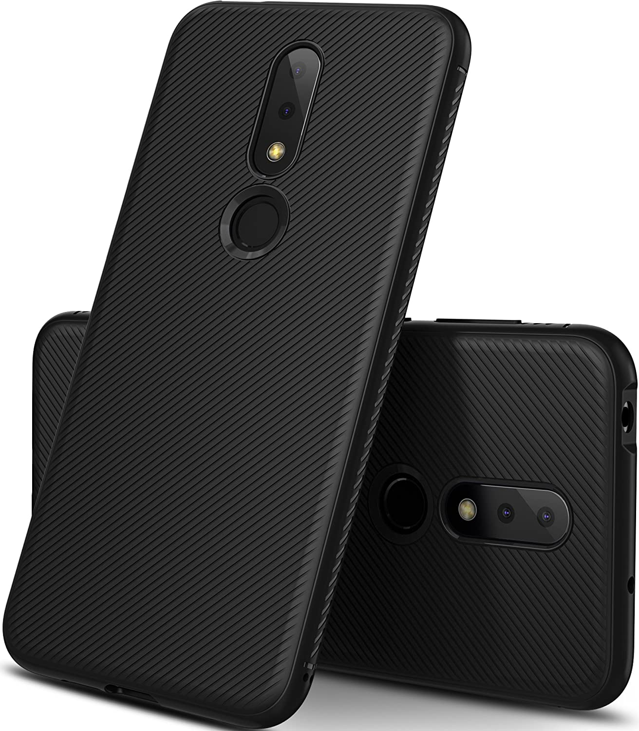 Geemai Nokia 6.1 Plus Cover,High Quality Ultra Slim Anti-graffio e Hard Totally Protective Cover per impronte digitali per cover in plastica rigida per smartphone Nokia 6.1 Plus, Nero