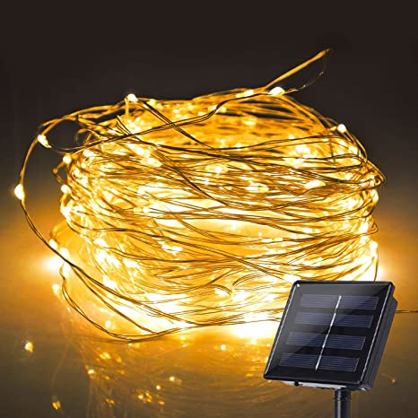 low priced 9fc0a ad660 JMEXSUSS Solar Powered String Lights, 200 LED 8 Modes Starry Fairy Lights,  65.6ft/20m, Waterproof Copper Wire Light for Christmas, Bedroom, Patio, ...