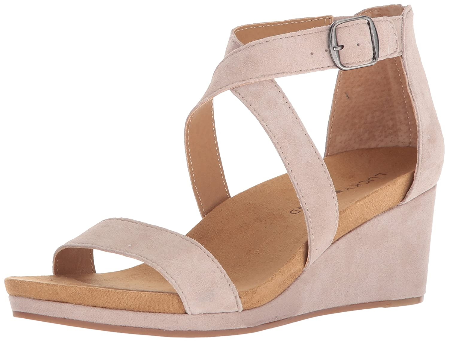 Tipsy Taupe Lucky Brand Womens Kenadee Wedges