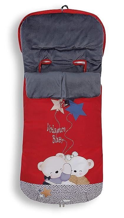 Saco POLAR de Invierno de Silla de Paseo - Estrellitas Rojo (Universal-Bugaboo-Mclaren)