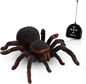 Advanced Play Remote Control Spider Toy Realistic 8 Inch Tarantula Animal Figures Funny Prank Joke Scare Gag Gifts for Halloween Christmas Party decor Birthdays Holidays April Fool Pranks
