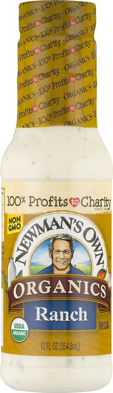Newman's Own Organics Ranch Salad Dressing, 12-oz. (Pack of 6)
