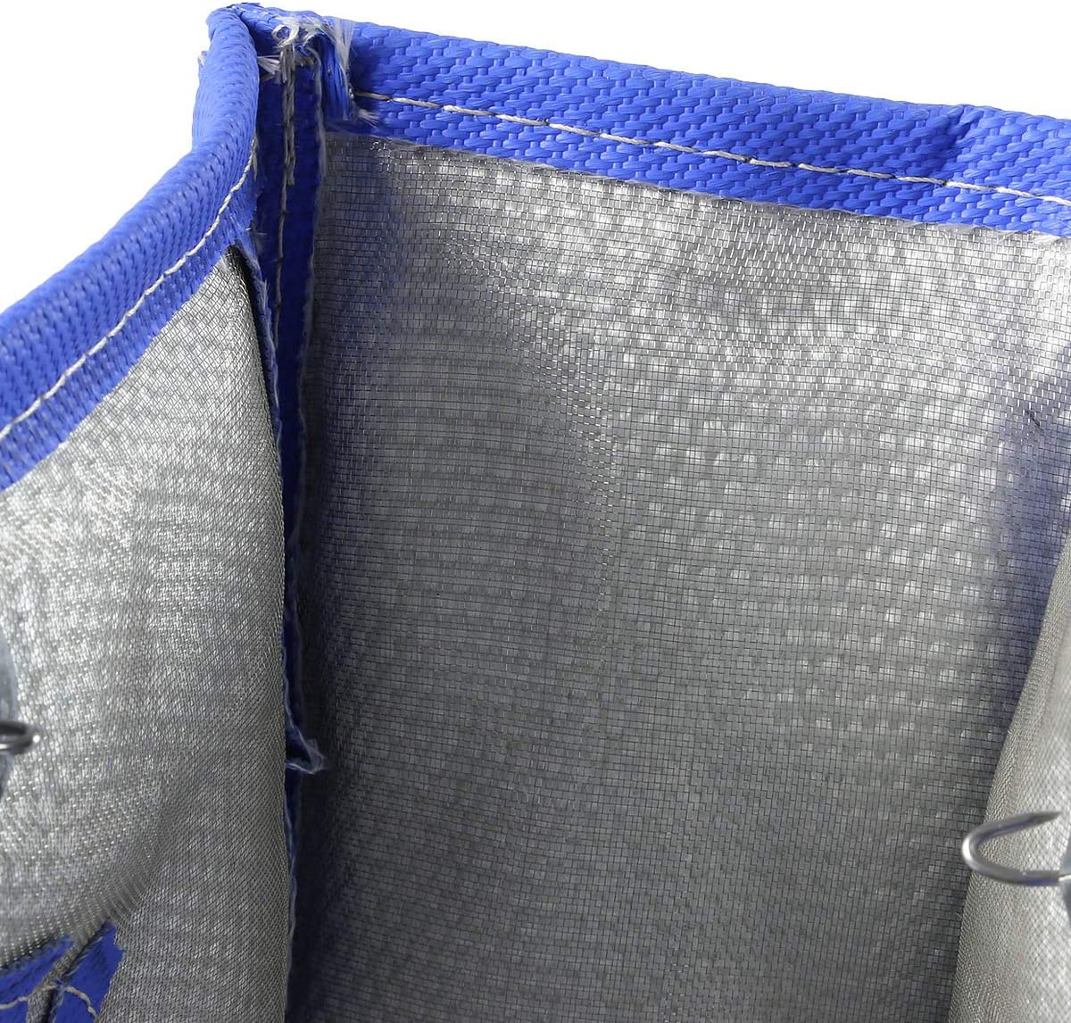 Blue T4 Stainless Steel Knitted Mesh Turbocharger Heat Shield Wrap Blanket