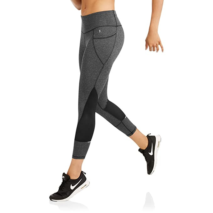 9c779a9b921a0 Danskin Now Women's Active allover Print Performance Capri Pants With Mesh  Inserts (Small, Herringbone