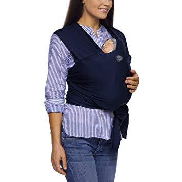 Moby Wrap Classic Cotton Baby Carrier For Newborns Navy Amazon Co