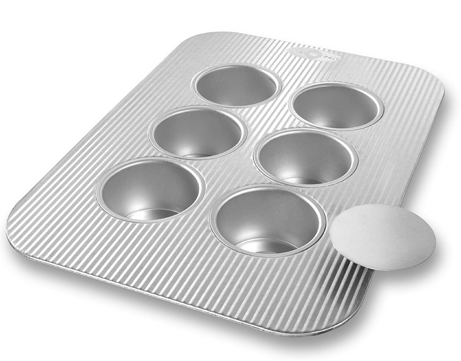 USA Pans 12 Cup Mini-Crown Muffin Pan, Aluminized Steel with Americoat 1210MF
