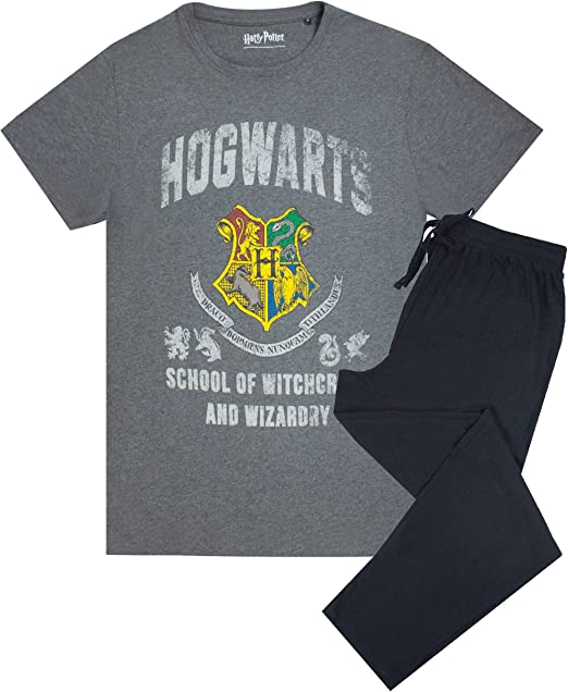 HARRY POTTER Movie Hogwarts Crest - Conjunto de Camiseta y pantalón de chándal: Amazon.es: Ropa y accesorios