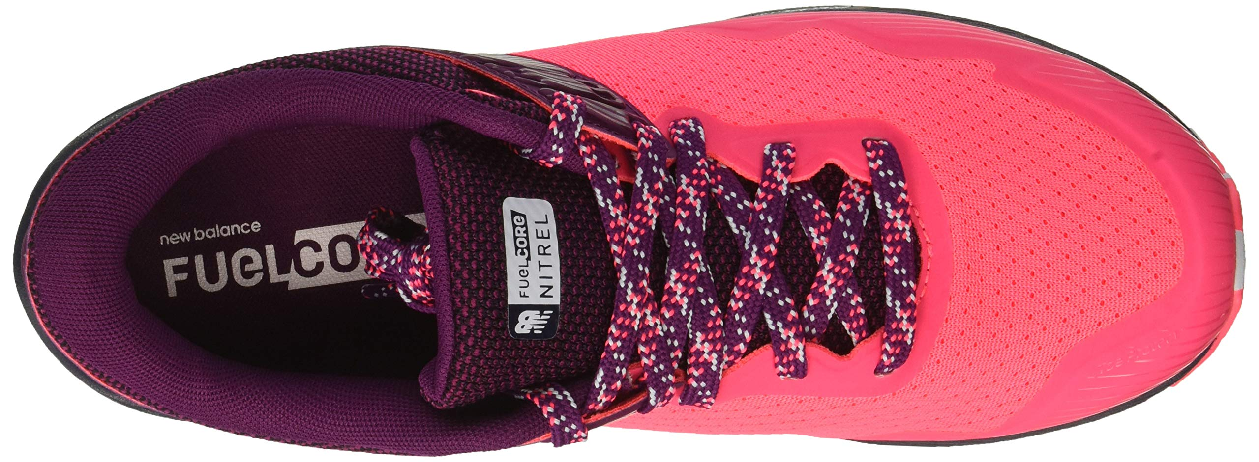 New Balance Women's Nitrel V2 FuelCore Trail Running Shoe Pink zing/Claret/Pigment 5 B US by New Balance (Image #8)
