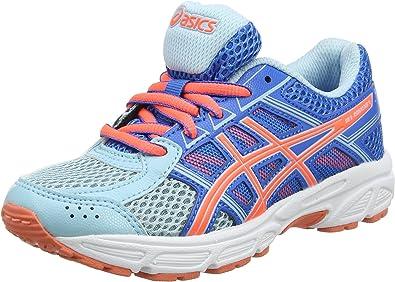 Asics Gel-Contend 4 GS, Zapatillas de Running Unisex Niños, Azul (Porcelain Blue/Flash Coral/Directoire Blue 1406), 35.5 EU: Amazon.es: Zapatos y complementos