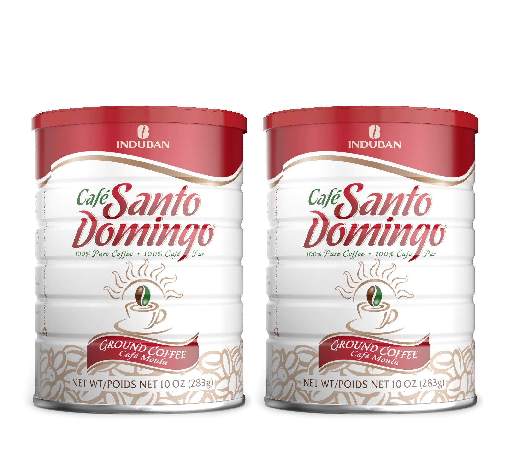 Santo Domingo Coffee, 10 oz Can - 2 Pack, Ground Coffee - Product from the Dominican Republic