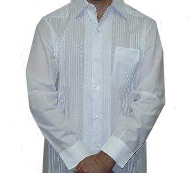 ABDALA Presidente Guayabera para Hombre - Blanco - Small: Amazon.es: Ropa y accesorios
