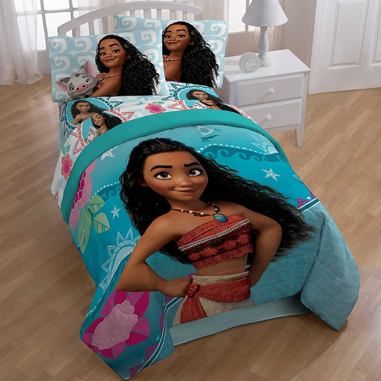 Disney Moana Comforter and Sheets Premium Bedding Set (Twin)