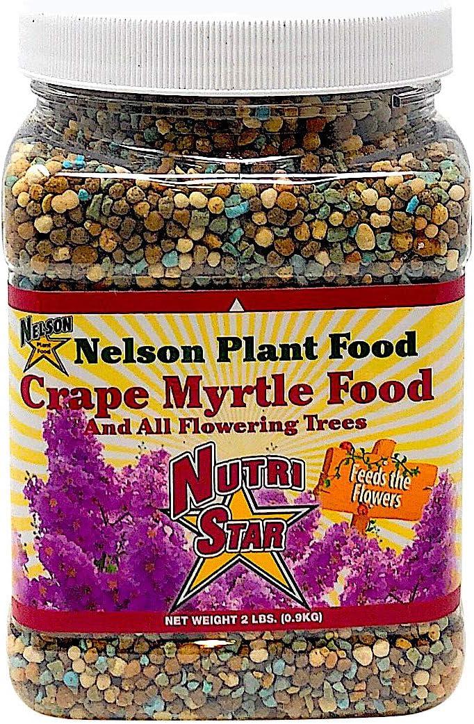 Crape Myrtle & All Flowering Trees Desert Willow Mimosa Orchid Tree Indoor Outdoor Container Grown Granular Fertilizer NutriStar 10-15-9 (2 lb)