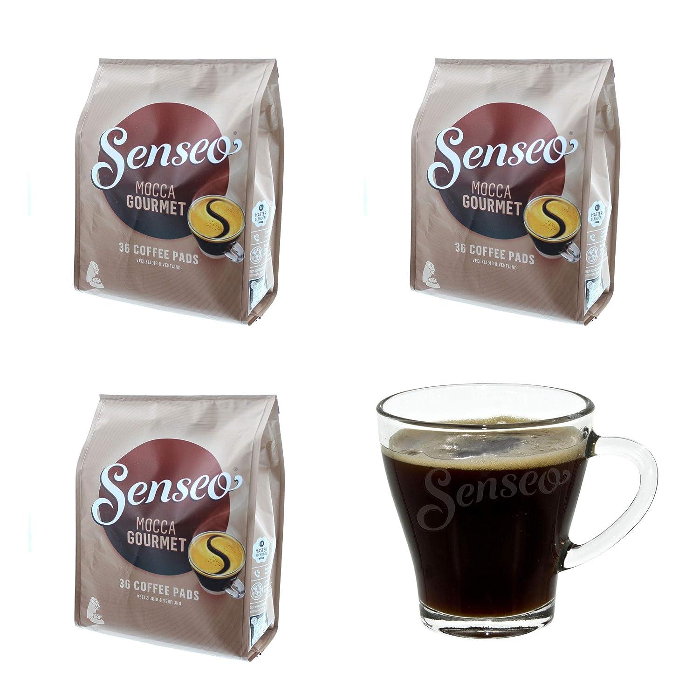 Senseo Mocca Gourmet - Cápsulas de café para cafeteras (108 ...