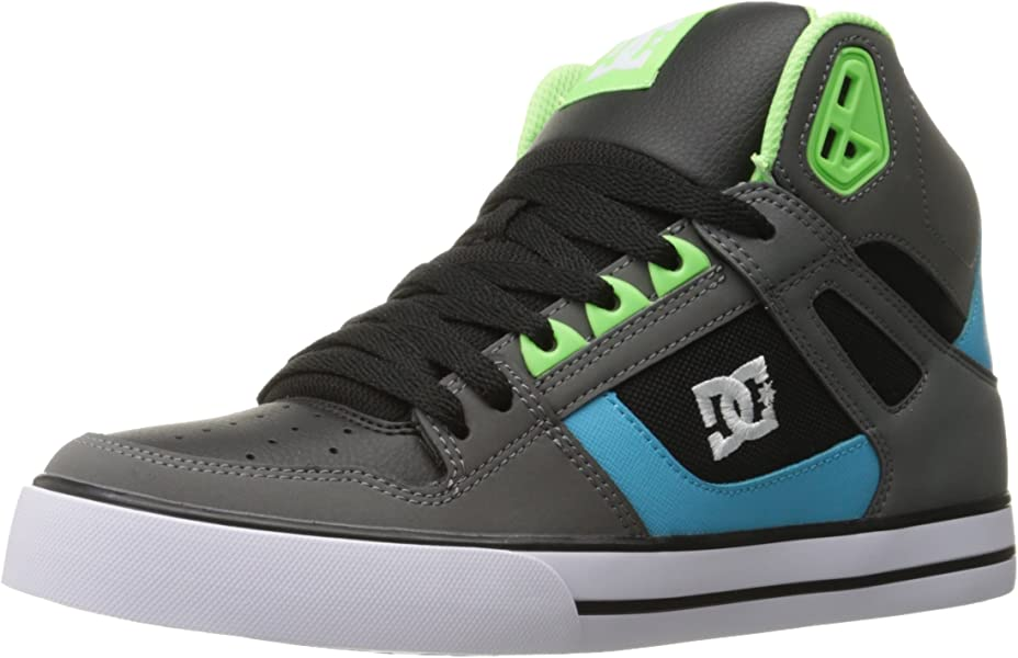 Zapatillas de skate para hombre Spartan HI WC, gris / verde / azul, 12.5 D US
