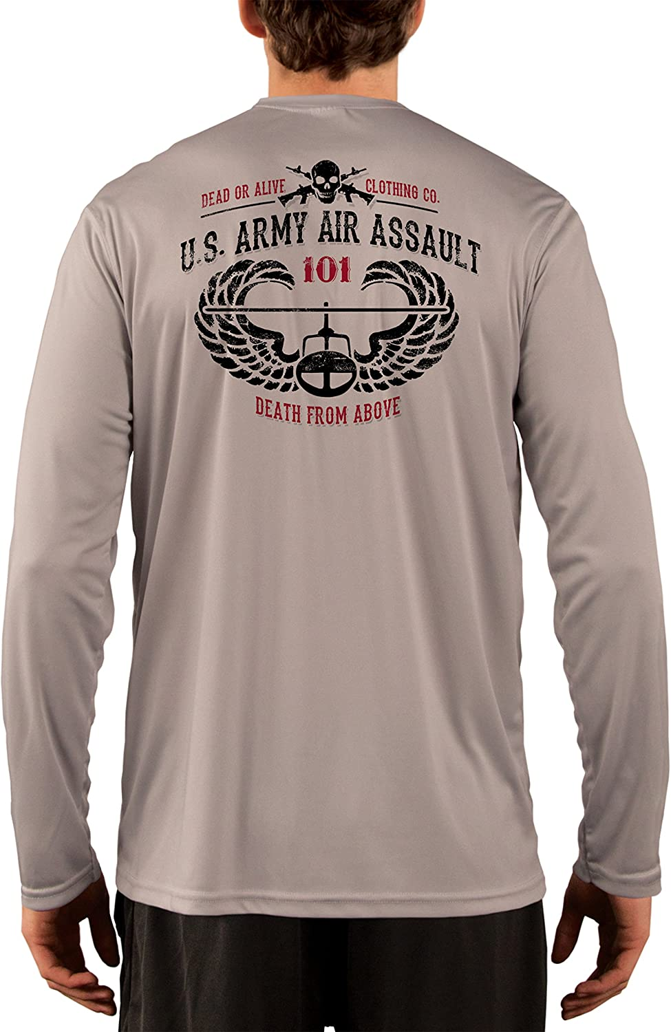Long Sleeve T-Shirt Medium Pearl Grey Dead Or Alive Clothing Womens Come Take It UPF 50