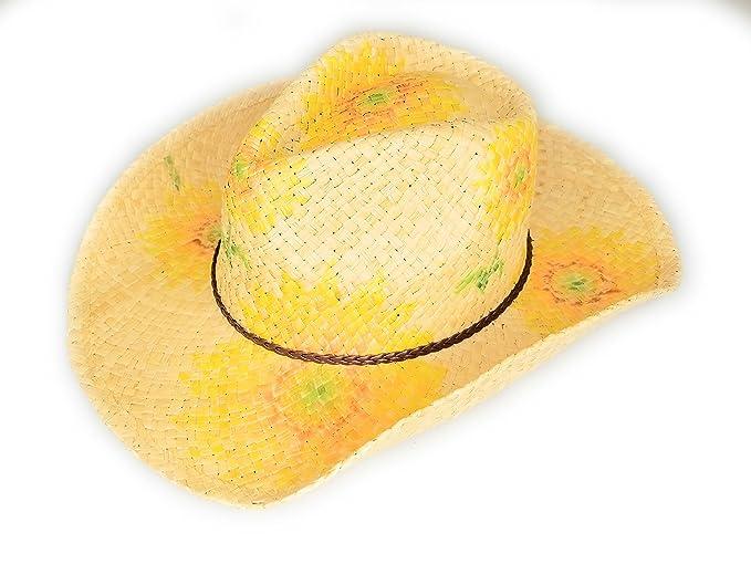 HatQuarters Sombreros para Mujer con diseño de Paja con Girasoles ... 61b49ab89e23