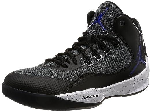 Jordan Men's Rising High 2, DARK GREY/CONCORD-BLACK-WHITE, 9.5