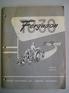 ferguson t030 owner's manual (ferguson