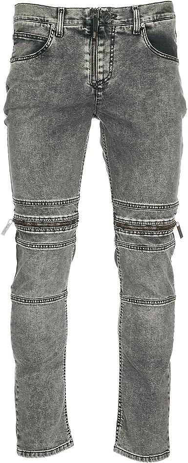 Versace Jeans Vaqueros Jeans Denim De Hombre Pantalones Slim Gris Amazon Es Ropa Y Accesorios