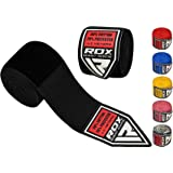 RDX Boxing Hand Wraps Inner Gloves for Punching - Great Protection for MMA, Muay Thai, Kickboxing, Martial Arts Training & Combat Sports - 4.5 Meter Elasticated Bandages Under Mitts